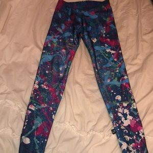 Terez Splatter paint leggings - Size medium